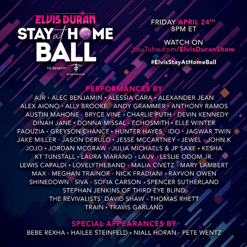 The Elvis Duran Stay At Home Ball To Benefit Project Cure
