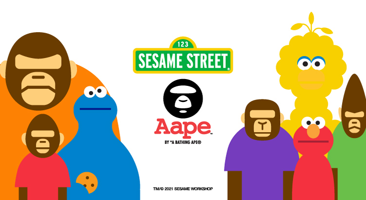 AAPE by A BATHING APE®︎ x Sesame Street